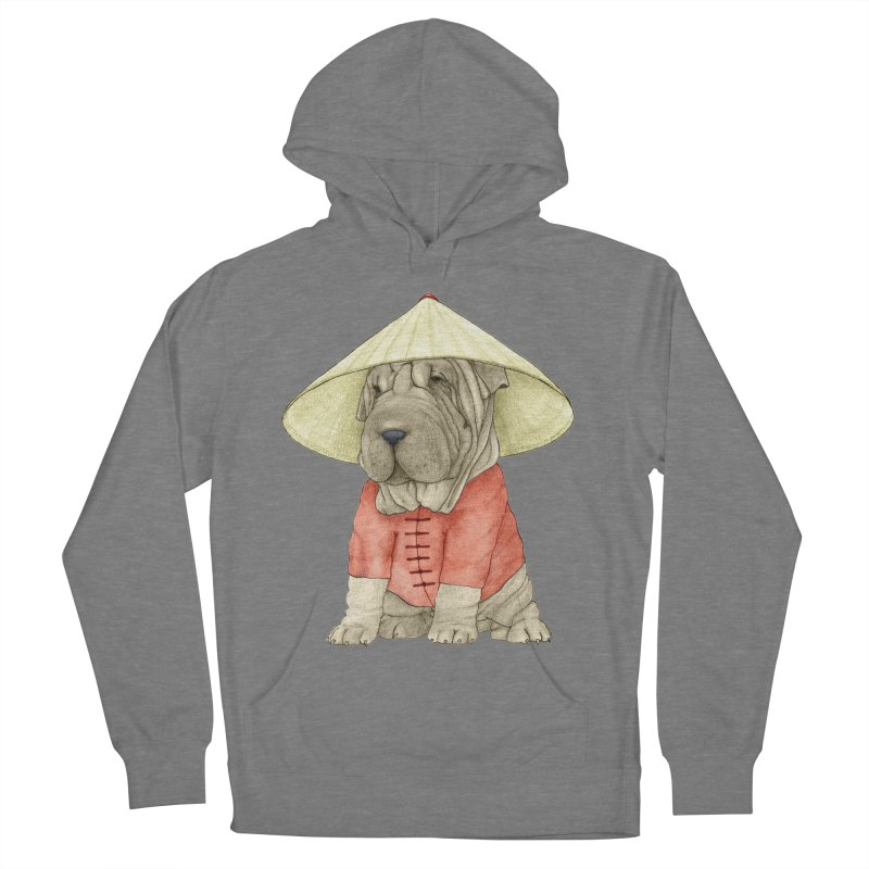 Shar Pei Men's French Terry Pullover Hoody by Barruf