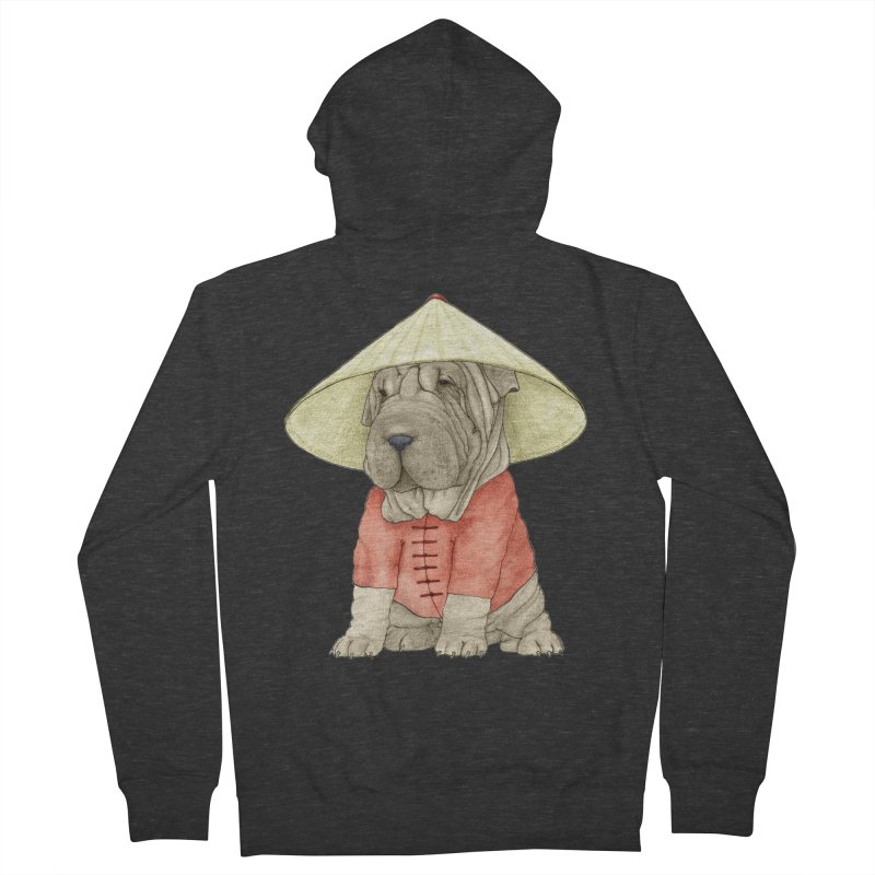 Shar Pei Men's French Terry Zip-Up Hoody by Barruf