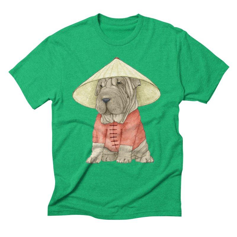 Shar Pei Men's Triblend T-Shirt by Barruf