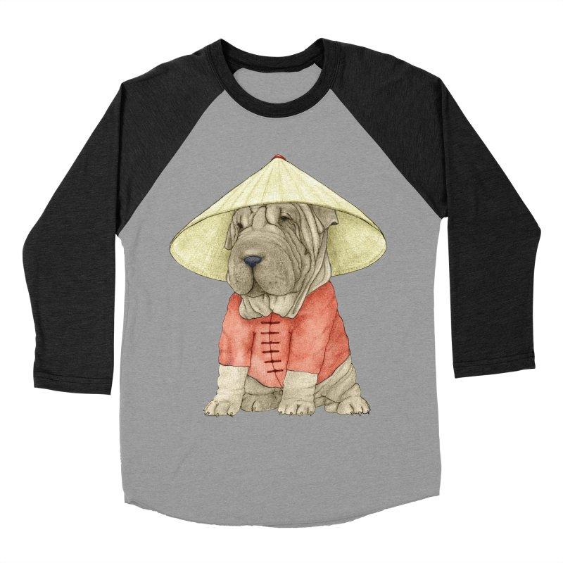 Shar Pei Women's Baseball Triblend Longsleeve T-Shirt by Barruf