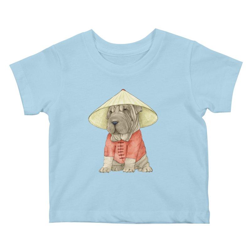Shar Pei Kids Baby T-Shirt by Barruf