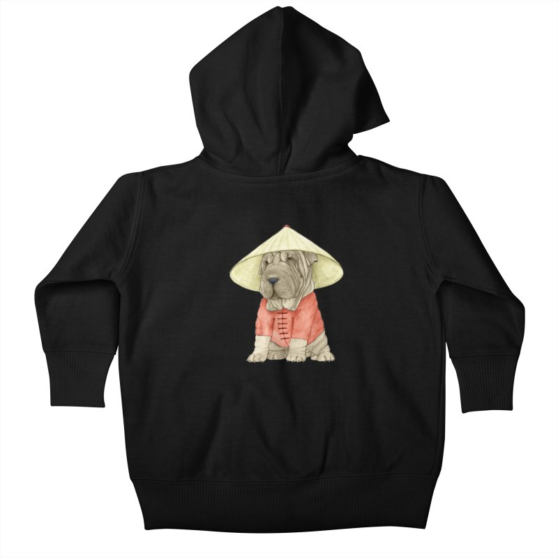 Shar Pei Kids Baby Zip-Up Hoody by Barruf