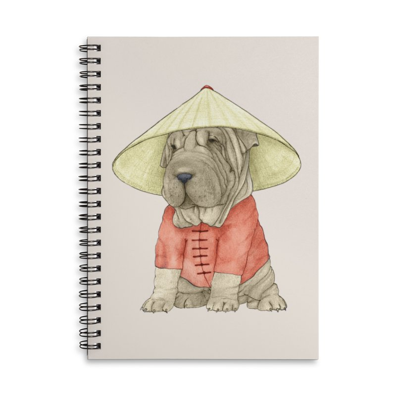 Shar Pei Accessories Lined Spiral Notebook by Barruf