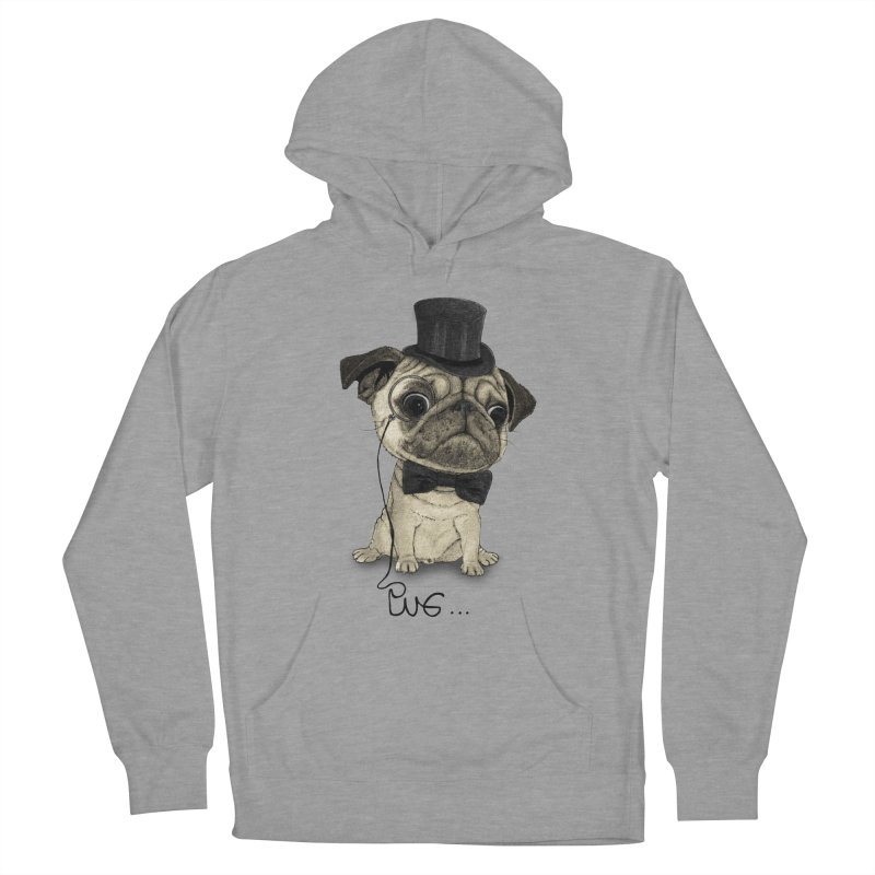 Pug; Gentle Pug Women's Pullover Hoody by Barruf