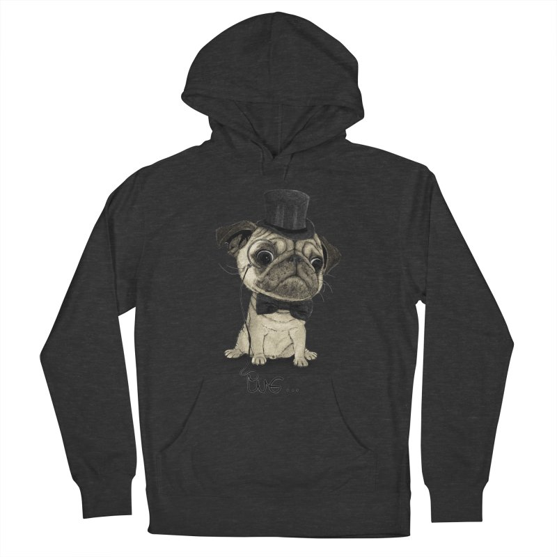 Pug; Gentle Pug Men's Pullover Hoody by Barruf