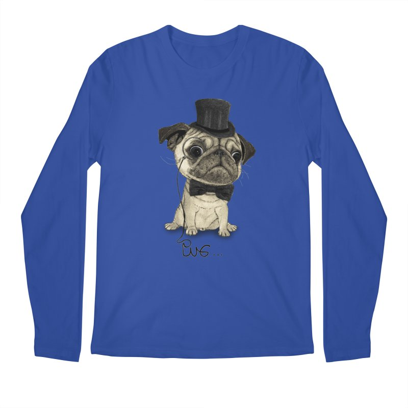 Pug; Gentle Pug Men's Longsleeve T-Shirt by Barruf