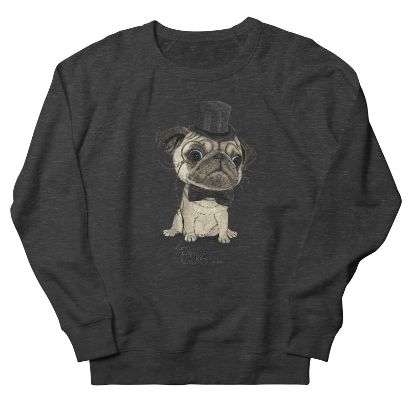 Pug; Gentle Pug Men's Sweatshirt by Barruf