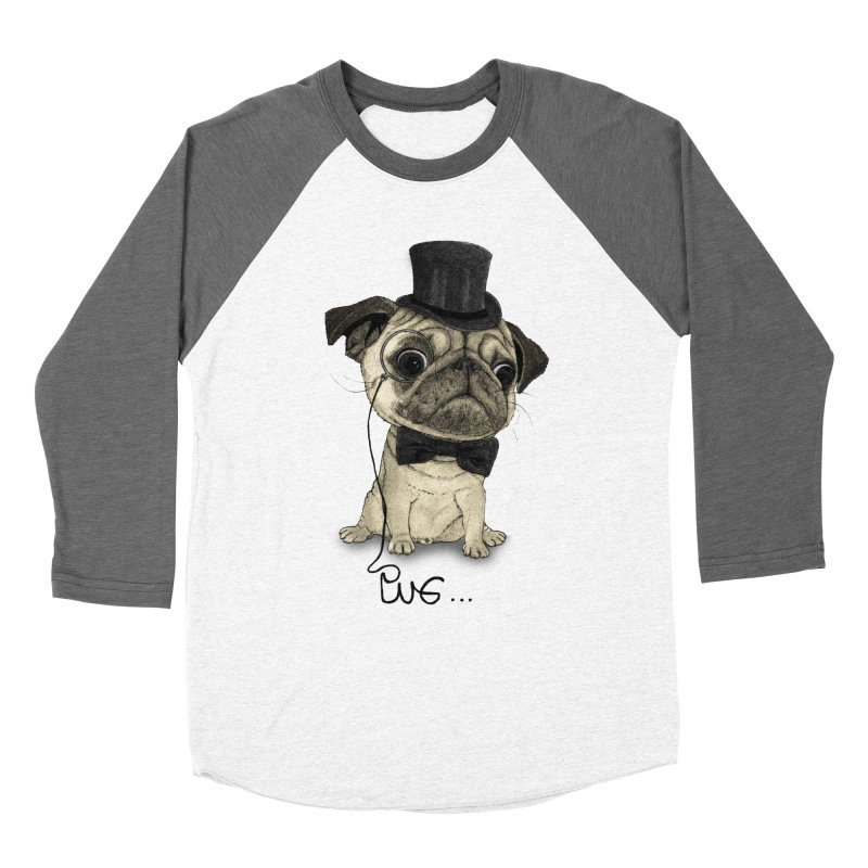 Pug; Gentle Pug Women's Longsleeve T-Shirt by Barruf