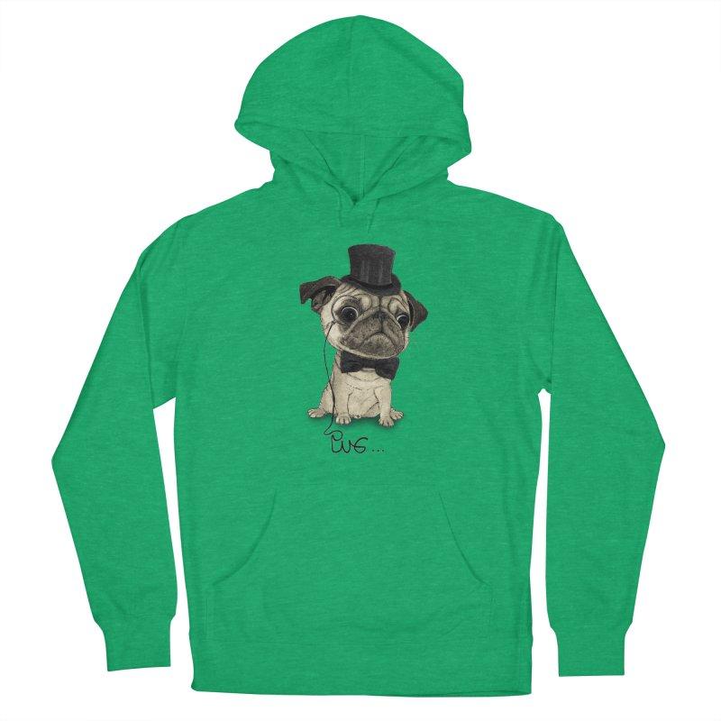Pug; Gentle Pug Men's Pullover Hoody by Barruf