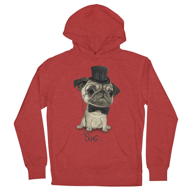 Pug; Gentle Pug Women's French Terry Pullover Hoody by Barruf