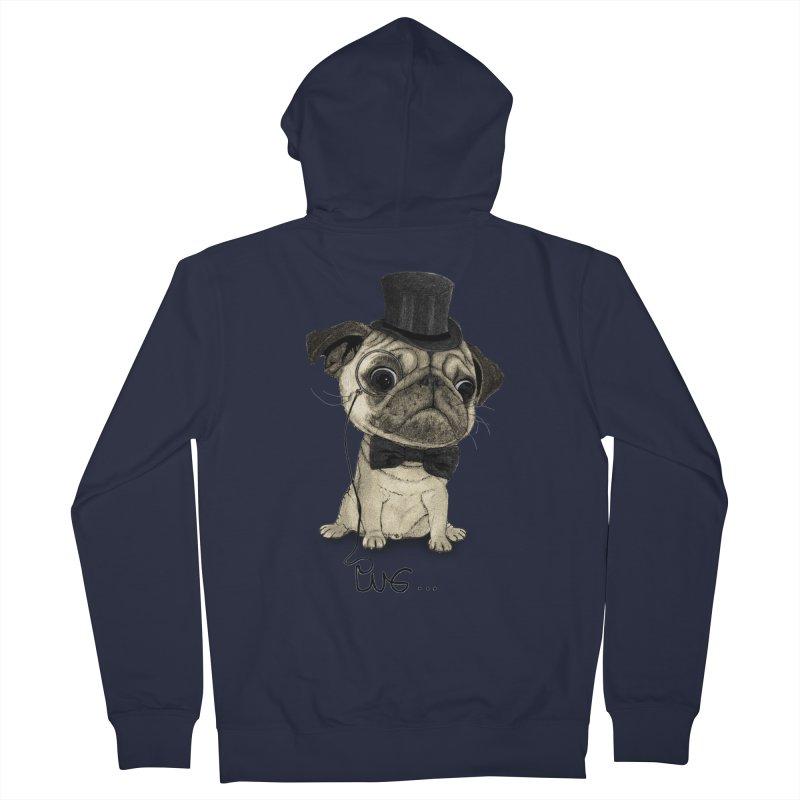 Pug; Gentle Pug Women's French Terry Zip-Up Hoody by Barruf