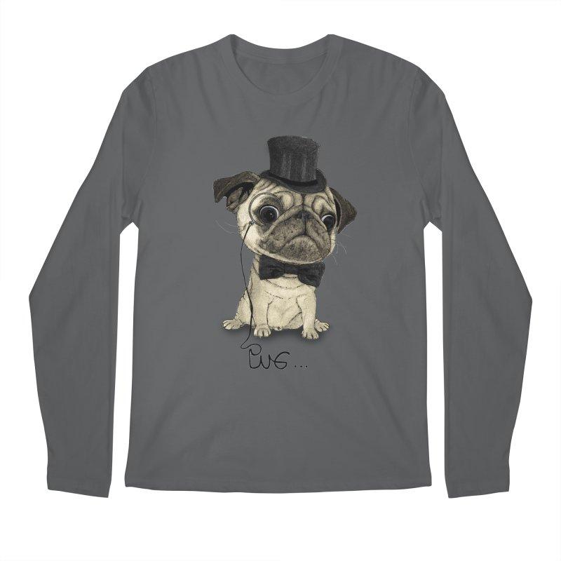 Pug; Gentle Pug Men's Regular Longsleeve T-Shirt by Barruf