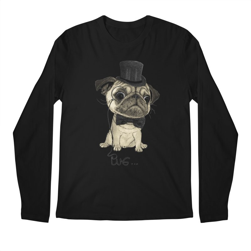 Pug; Gentle Pug Men's Regular Longsleeve T-Shirt by Barruf