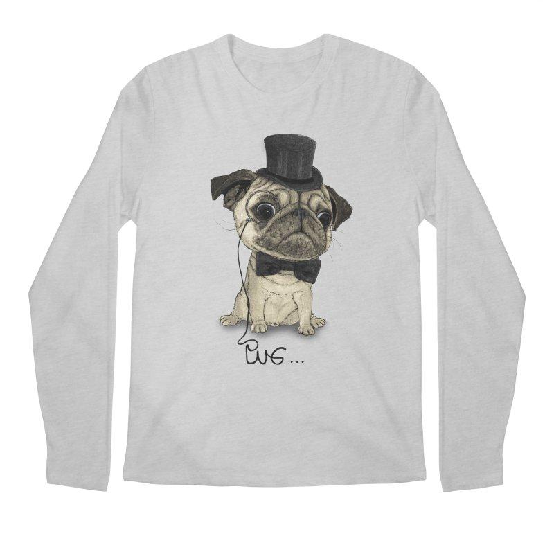 Pug; Gentle Pug Men's Longsleeve T-Shirt by Barruf