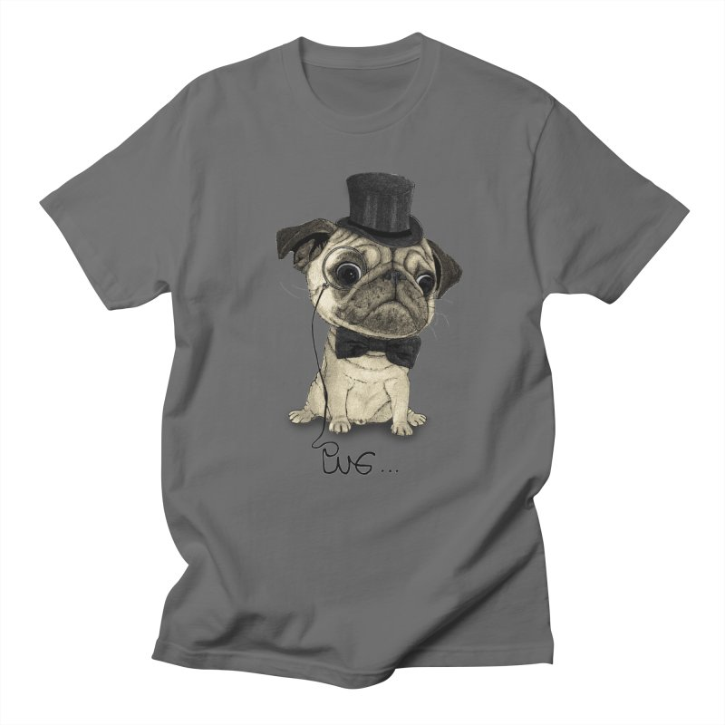 Pug; Gentle Pug Men's T-Shirt by Barruf