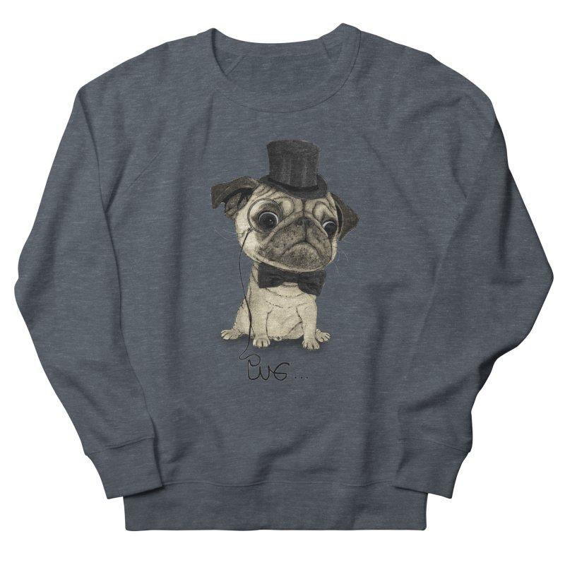 Pug; Gentle Pug Men's Sweatshirt by Barruf