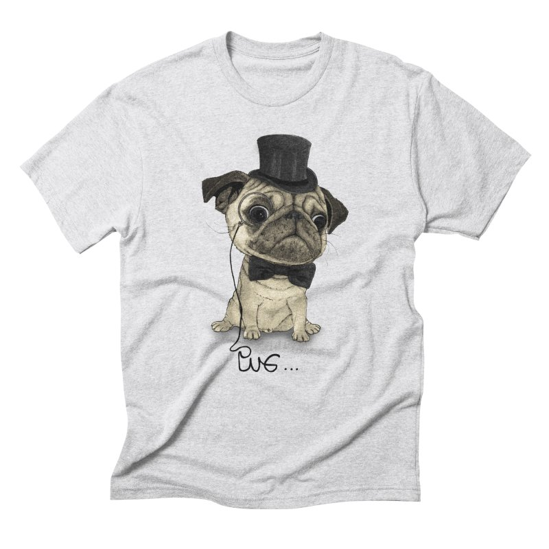 Pug; Gentle Pug Men's Triblend T-Shirt by Barruf
