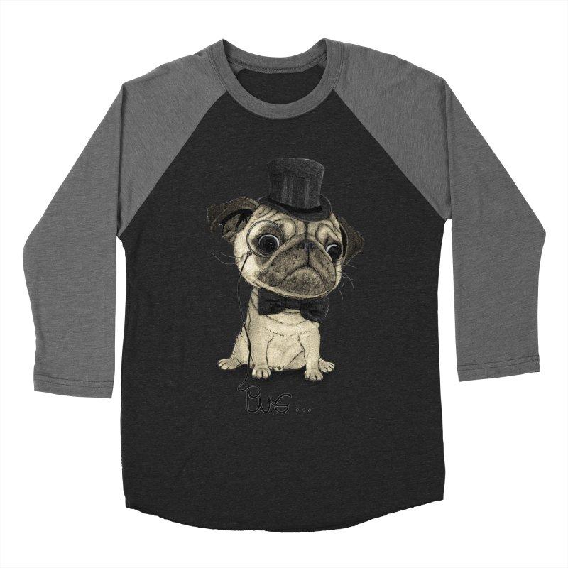 Pug; Gentle Pug Women's Baseball Triblend Longsleeve T-Shirt by Barruf