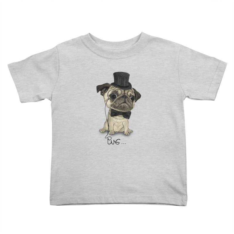 Pug; Gentle Pug Kids Toddler T-Shirt by Barruf
