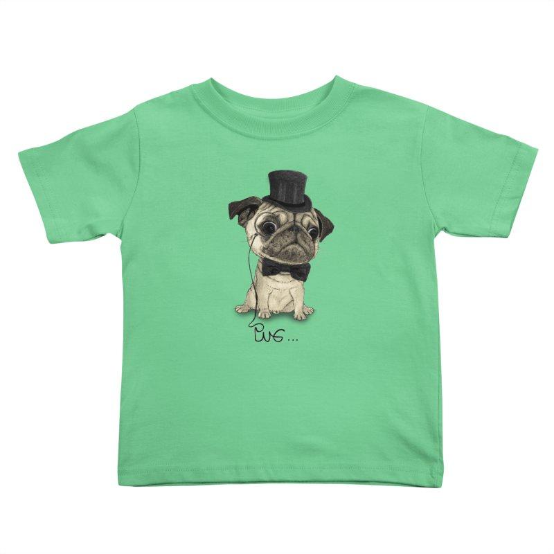 Pug; Gentle Pug Kids Toddler T-Shirt by Barruf