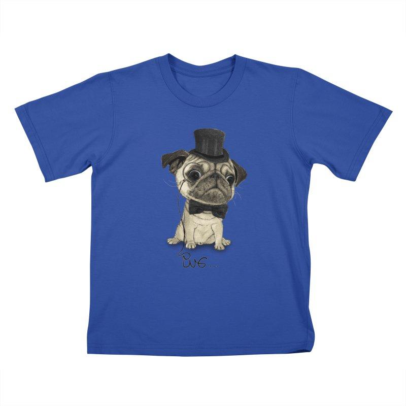 Pug; Gentle Pug Kids T-Shirt by Barruf