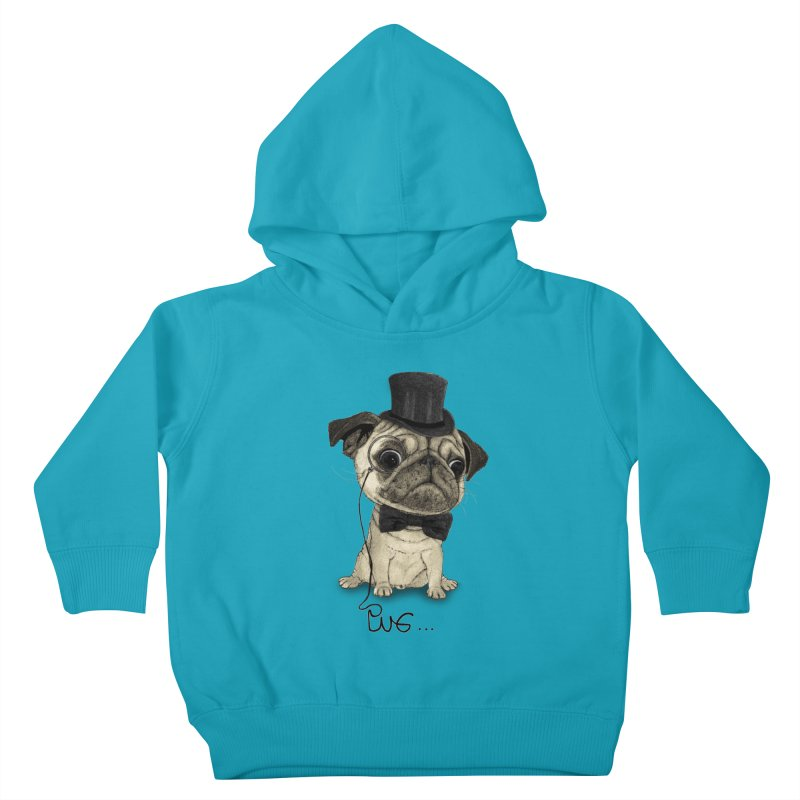 Pug; Gentle Pug Kids Toddler Pullover Hoody by Barruf