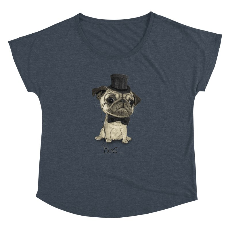 Pug; Gentle Pug Women's Dolman by Barruf