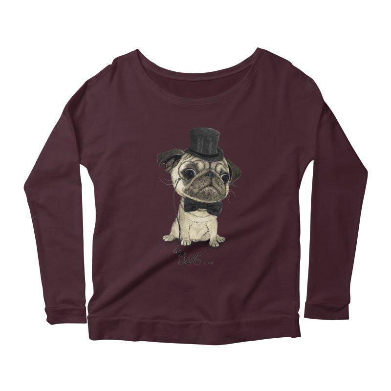 Pug; Gentle Pug Women's Scoop Neck Longsleeve T-Shirt by Barruf
