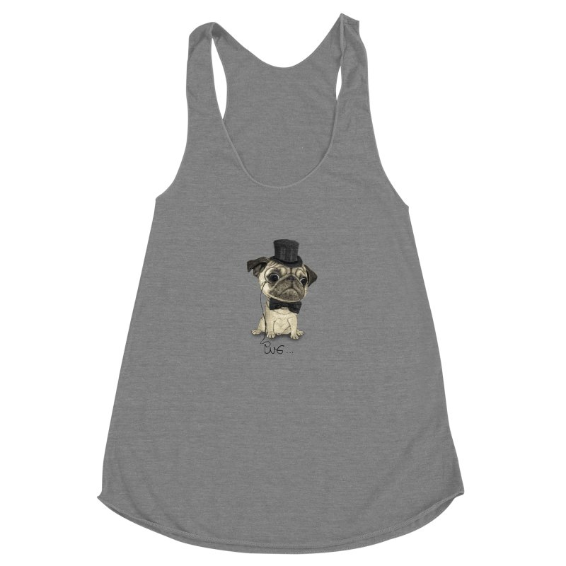 Pug; Gentle Pug Women's Tank by Barruf