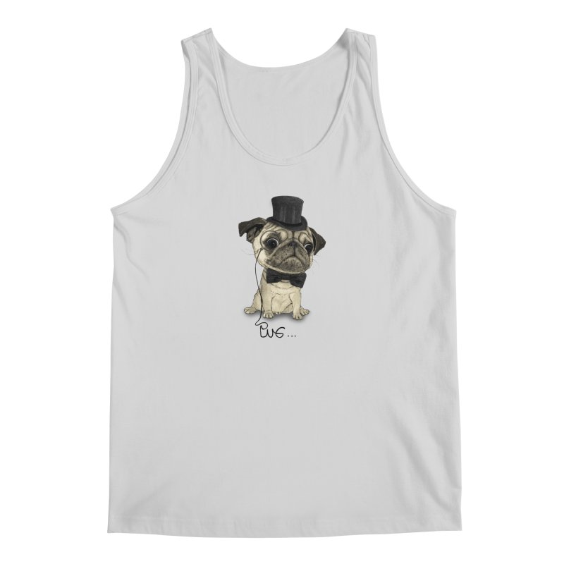 Pug; Gentle Pug Men's Tank by Barruf