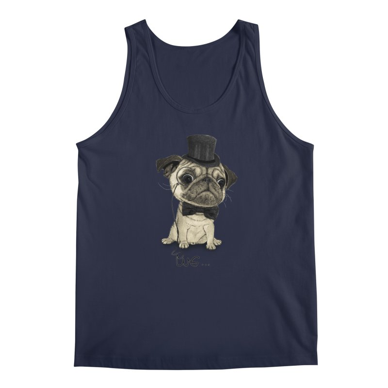 Pug; Gentle Pug Men's Tank by Barruf