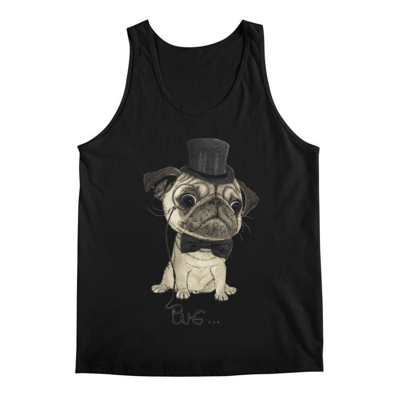 Pug; Gentle Pug Men's Regular Tank by Barruf