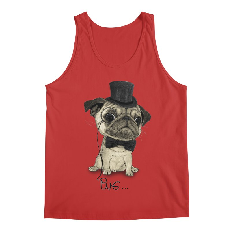 Pug; Gentle Pug Men's Regular Tank by Barruf