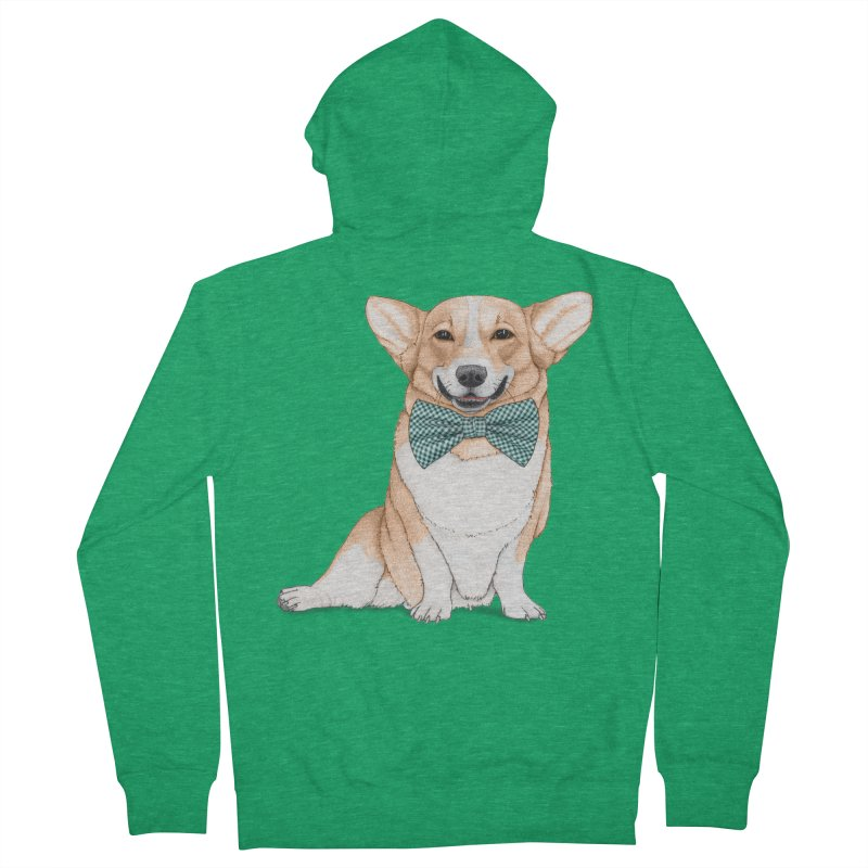 Corgi Dog Men's Zip-Up Hoody by Barruf