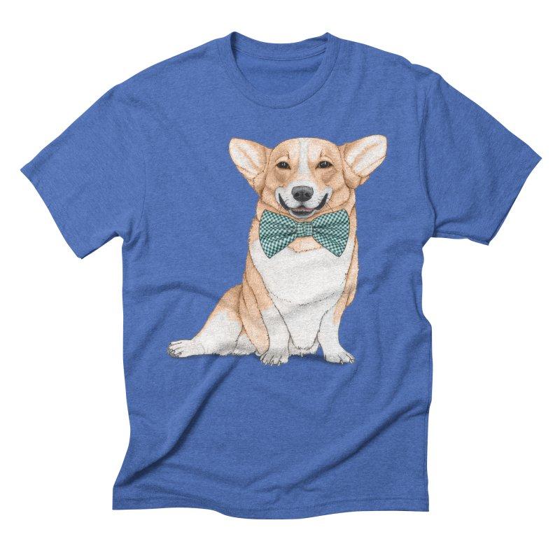 Corgi Dog Men's T-Shirt by Barruf