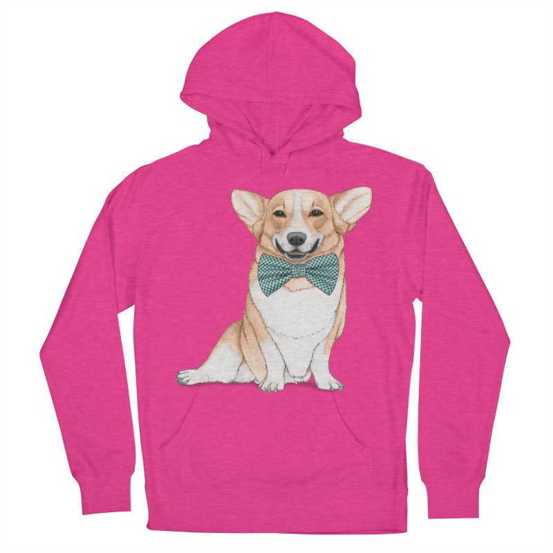 Corgi Dog Women's French Terry Pullover Hoody by Barruf