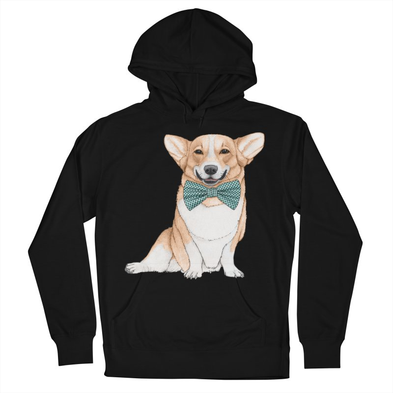 Corgi Dog Men's French Terry Pullover Hoody by Barruf