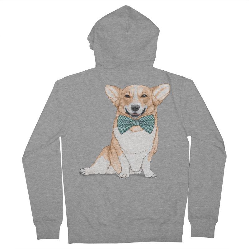 Corgi Dog Men's Zip-Up Hoody by Barruf
