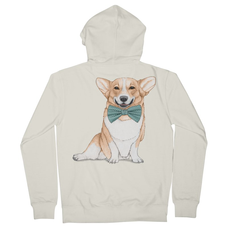 Corgi Dog Men's French Terry Zip-Up Hoody by Barruf