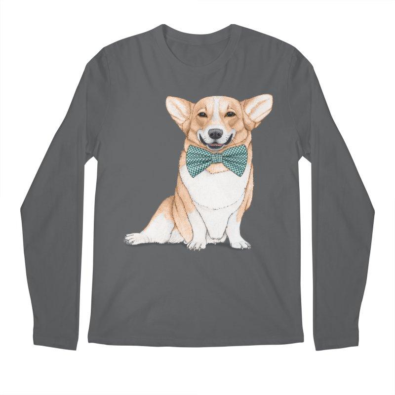 Corgi Dog Men's Longsleeve T-Shirt by Barruf
