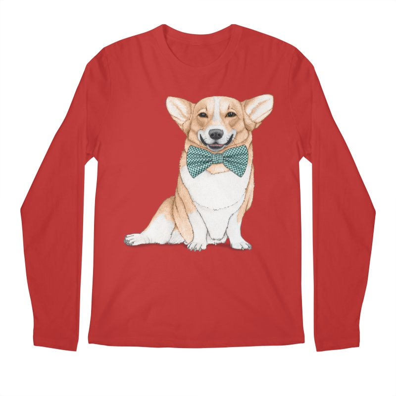 Corgi Dog Men's Regular Longsleeve T-Shirt by Barruf