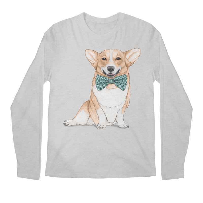 Corgi Dog Men's Regular Longsleeve T-Shirt by Barruf