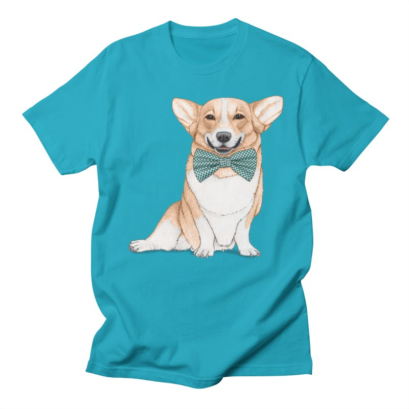Corgi Dog Men's T-shirt by Barruf