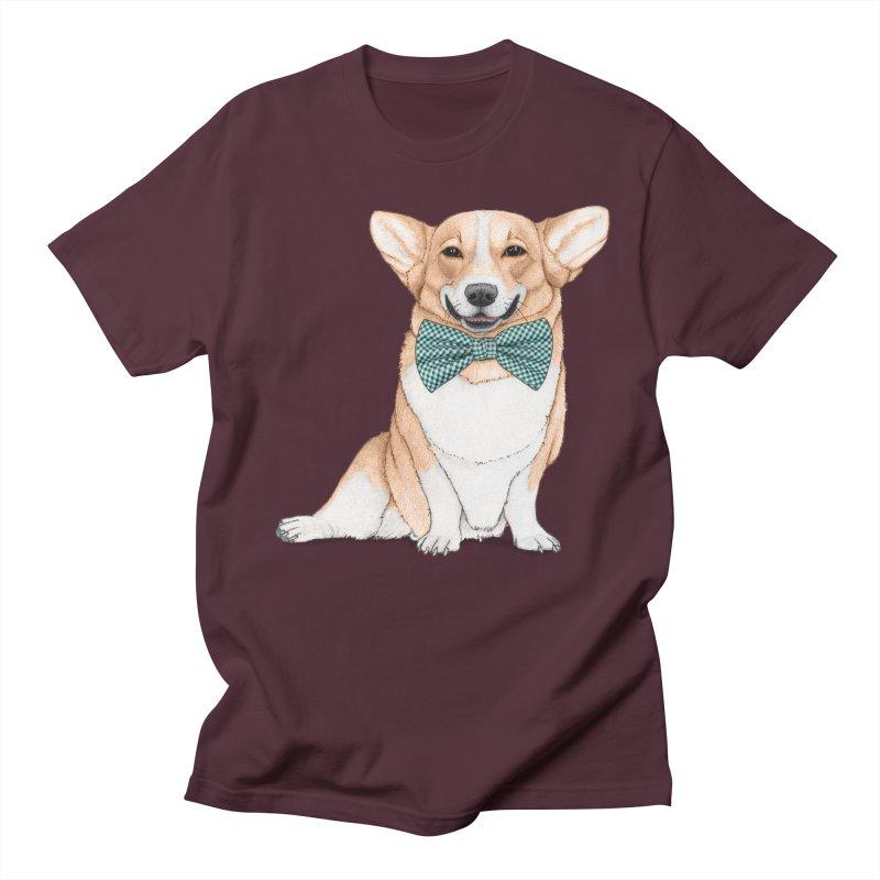 Corgi Dog Men's Regular T-Shirt by Barruf