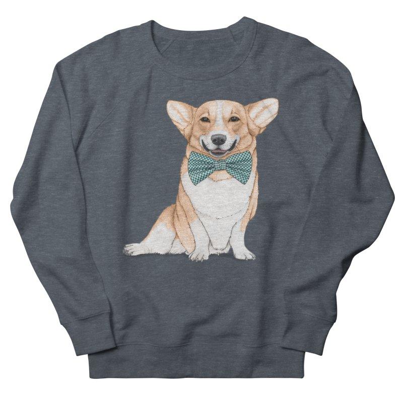 Corgi Dog Men's French Terry Sweatshirt by Barruf