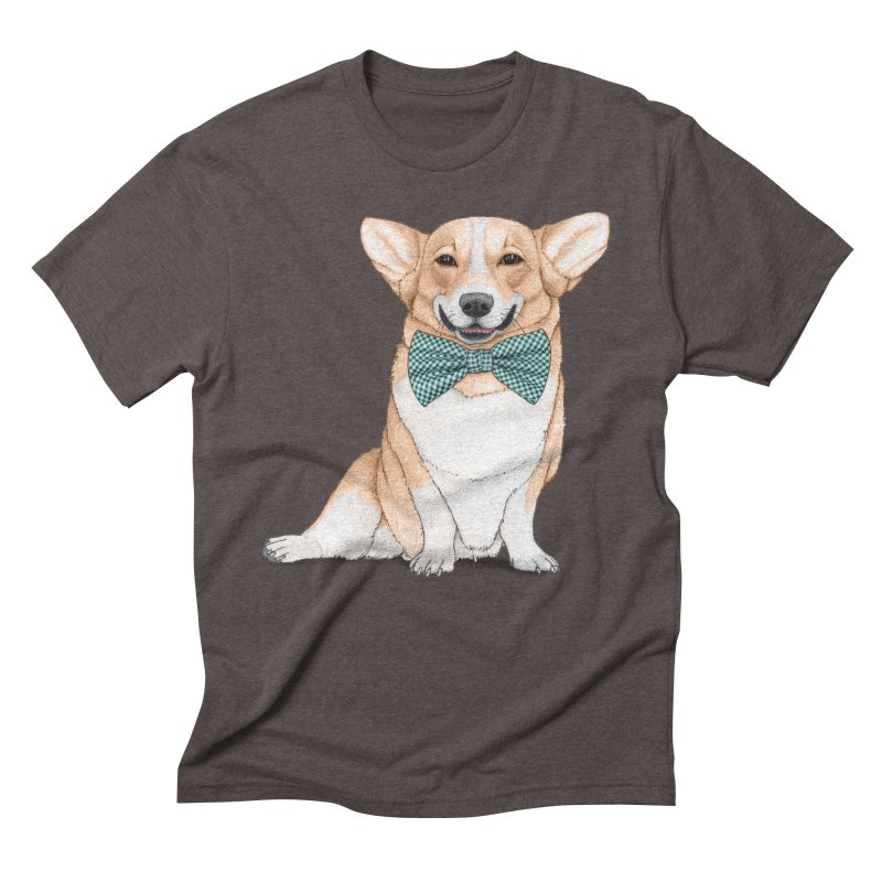 Corgi Dog Men's Triblend T-Shirt by Barruf
