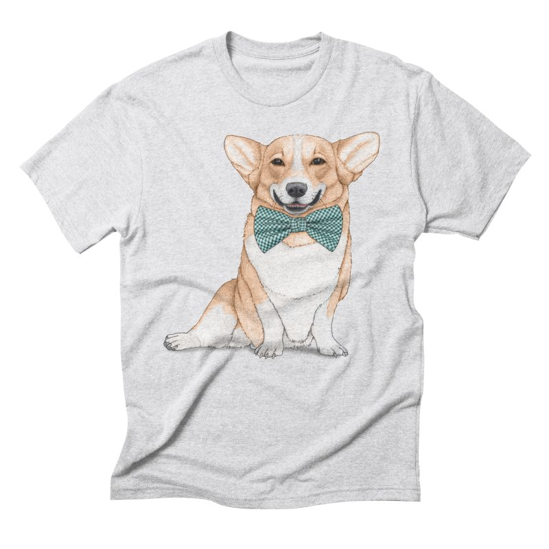 Corgi Dog Men's Triblend T-Shirt by Barruf