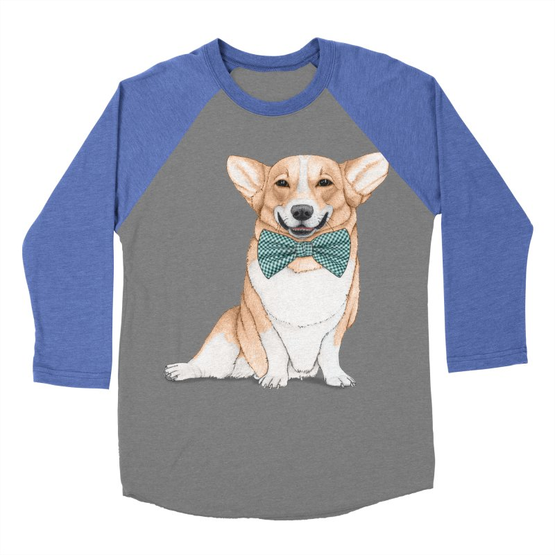 Corgi Dog Women's Baseball Triblend T-Shirt by Barruf