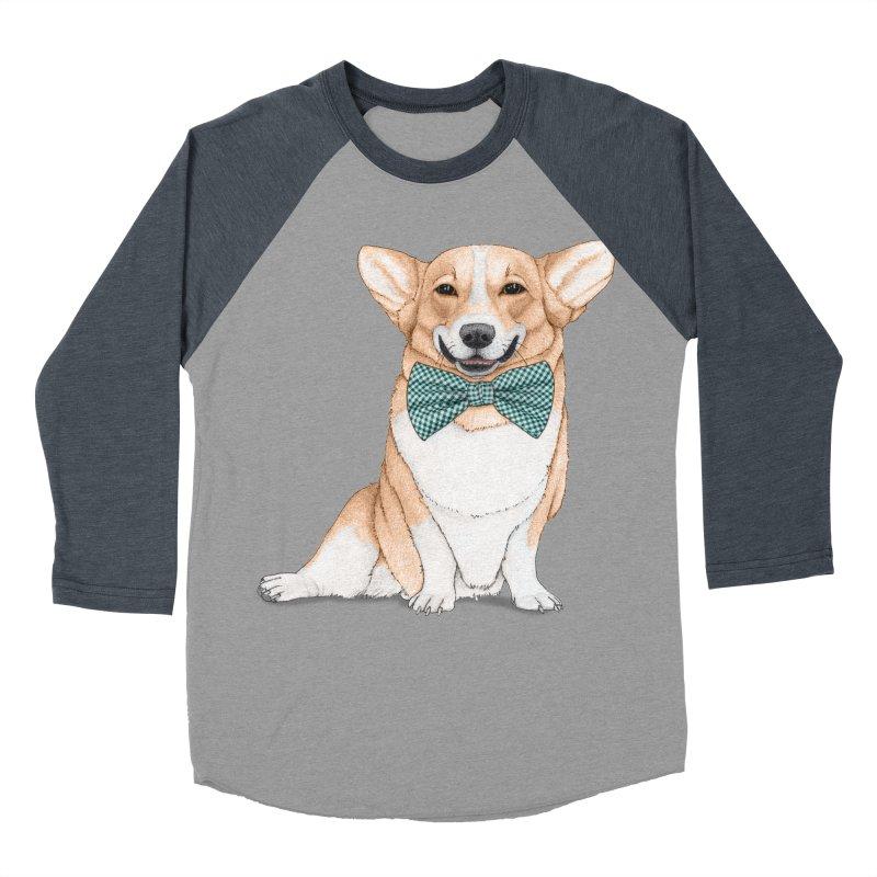 Corgi Dog Women's Baseball Triblend Longsleeve T-Shirt by Barruf