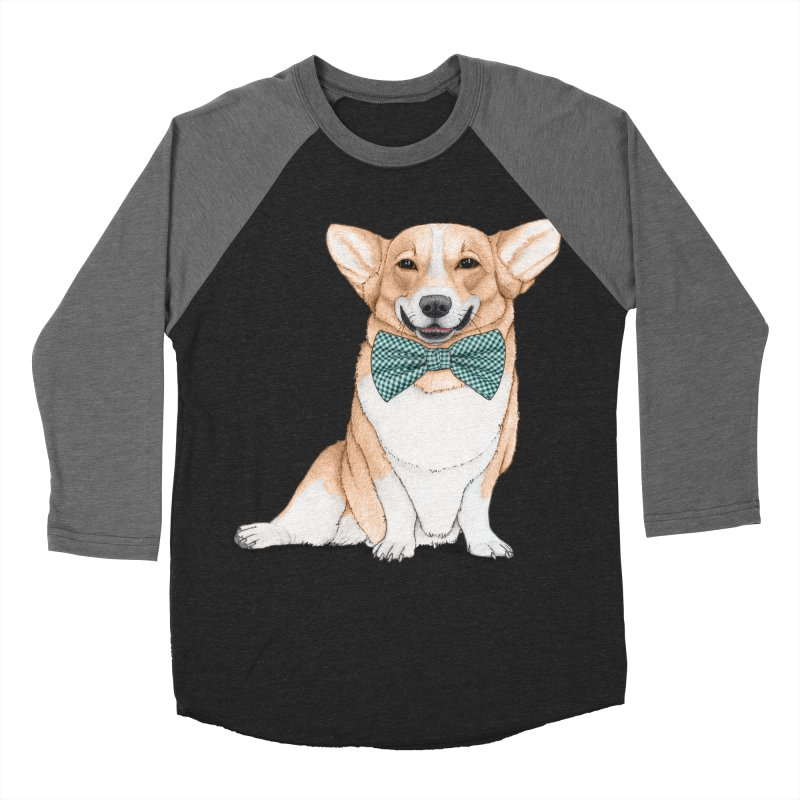Corgi Dog Men's Baseball Triblend T-Shirt by Barruf
